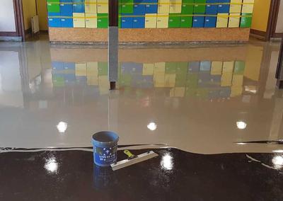 Bodenbelag für Eislaufanlage Illerau