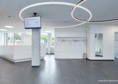 Kautschuk-Bodenbelag für Ärztehaus
